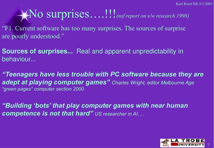 No surprises….!!!
