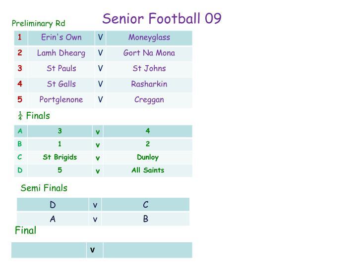 Senior Football 09