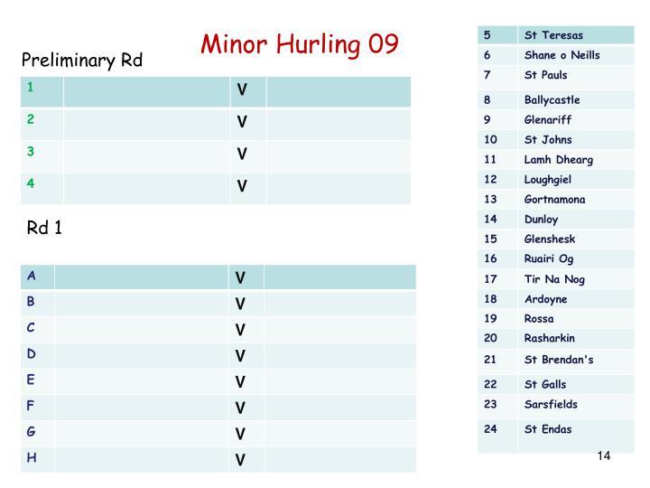 Minor Hurling 09