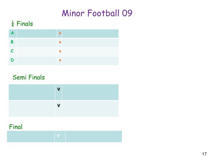 Minor Football 09