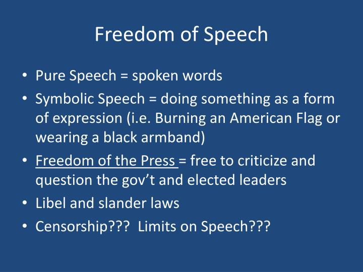 censorship conflicts with the first amendments freedom of speech