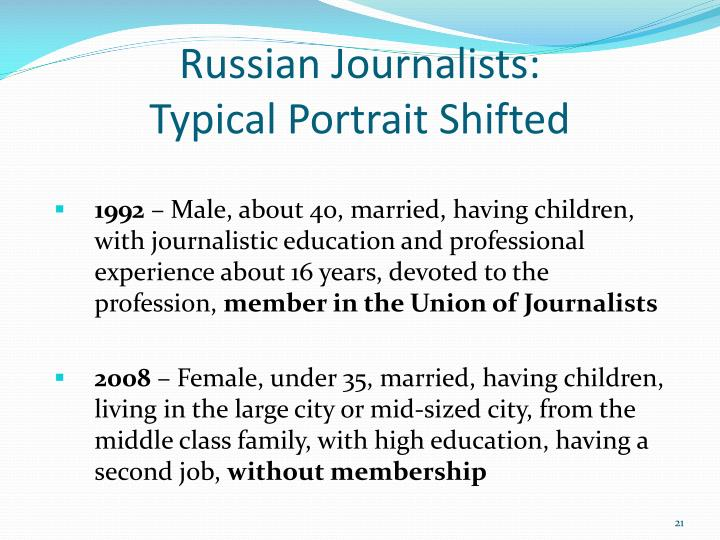 Russian Journalists: