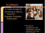 13 reform