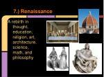 7 renaissance