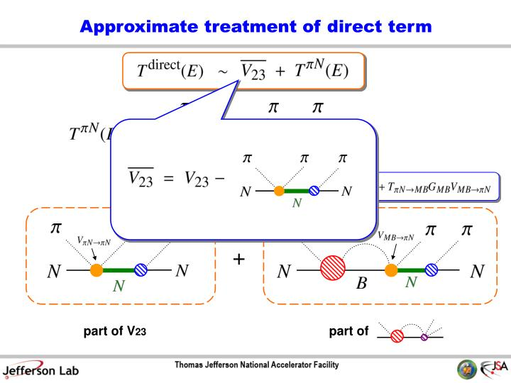 Approximate treatment of direct term