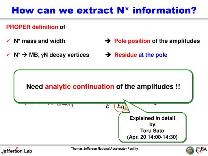 How can we extract N* information?