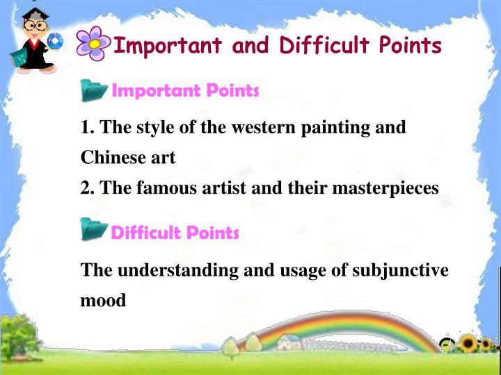 Important and Difficult Points