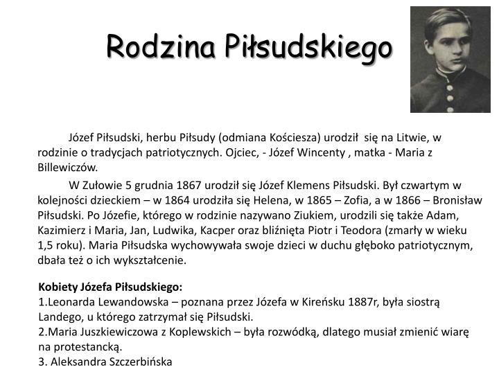 Rodzina Piłsudskiego