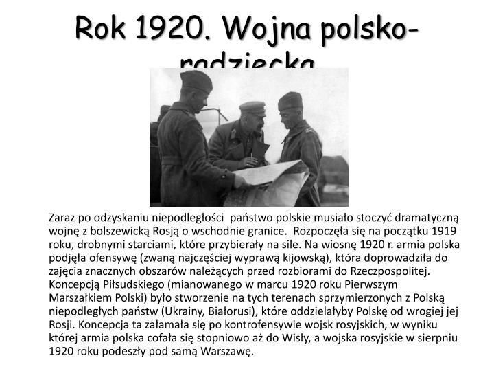 Rok 1920. Wojna polsko-radziecka