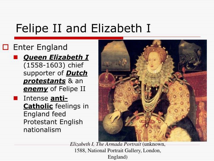 Felipe II and Elizabeth I