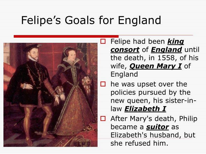 Felipe's Goals for England