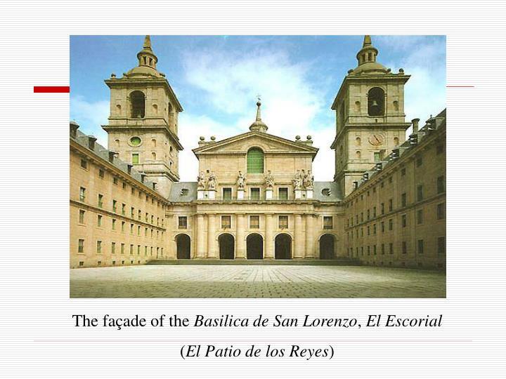 The façade of the