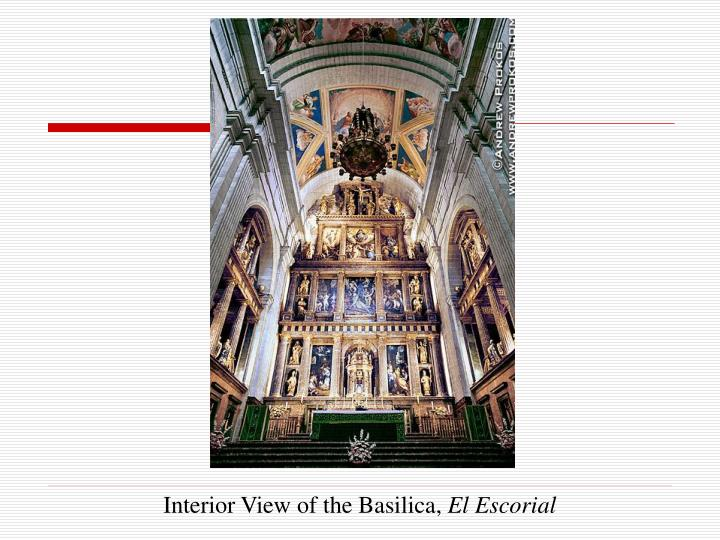 Interior View of the Basilica,