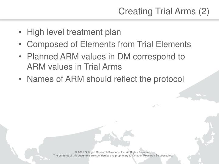 Creating Trial Arms (2)