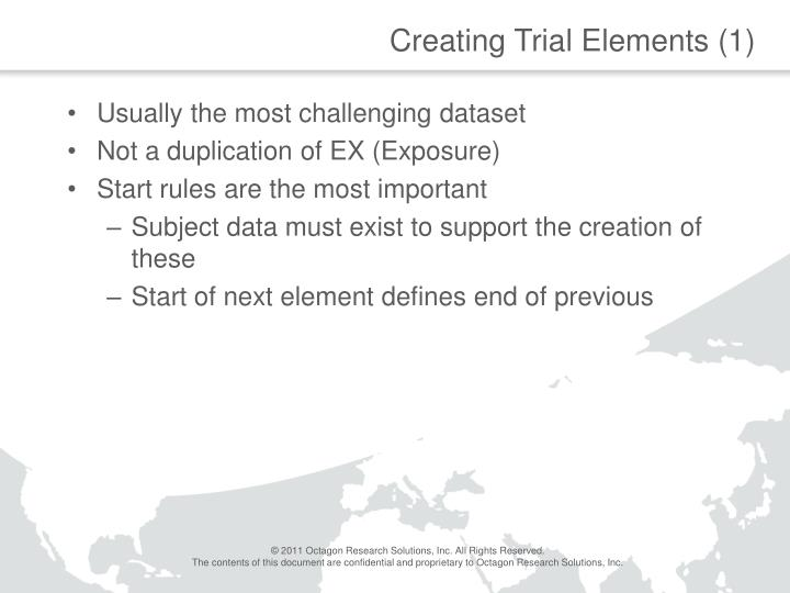 Creating Trial Elements (1)