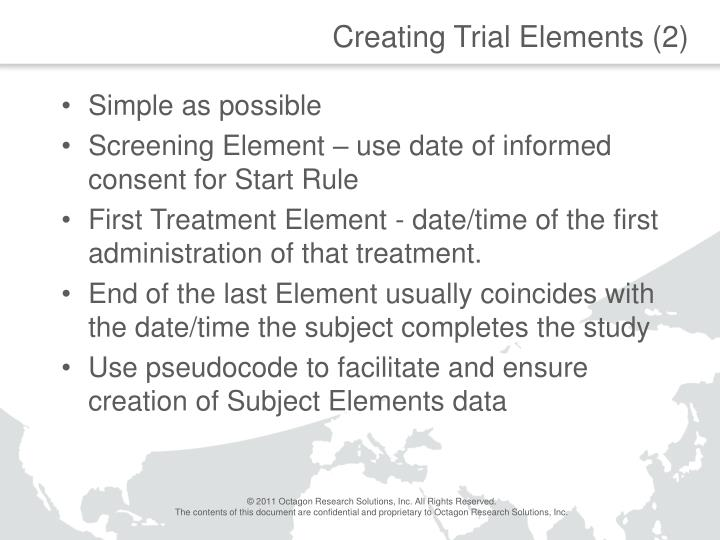 Creating Trial Elements (2)