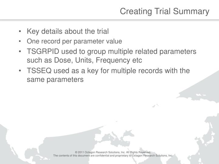 Creating Trial Summary