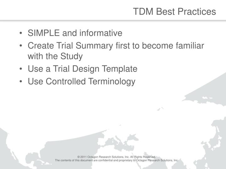 TDM Best Practices
