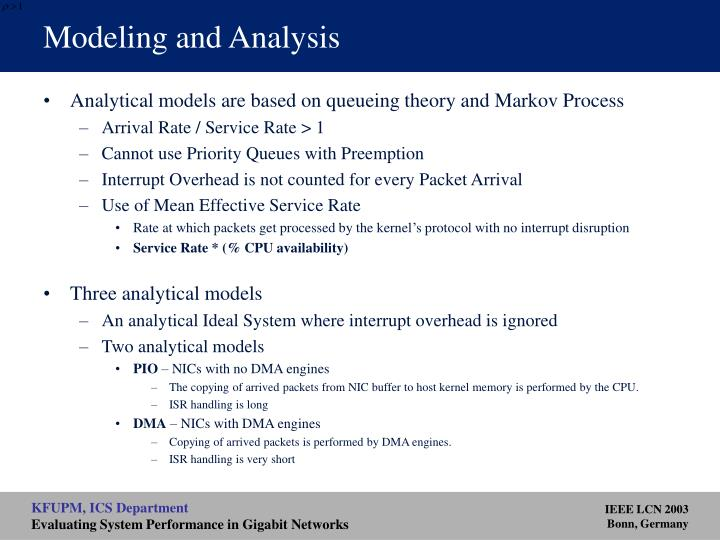 Modeling and Analysis