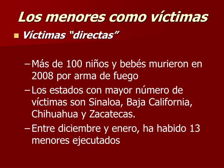 Los menores como víctimas