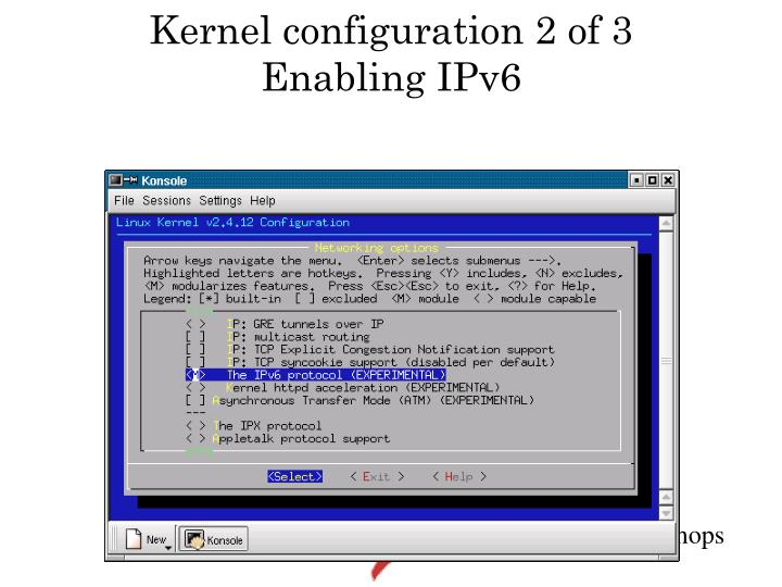 Kernel configuration 2 of 3