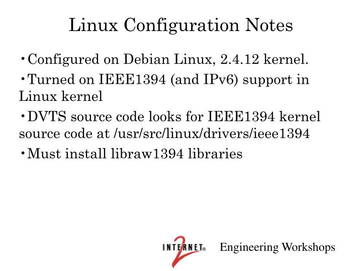 Linux Configuration Notes