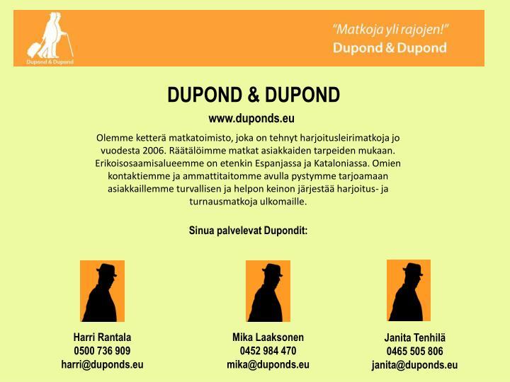 DUPOND & DUPOND
