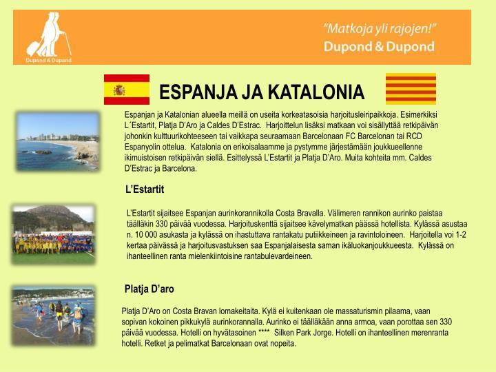 ESPANJA JA KATALONIA