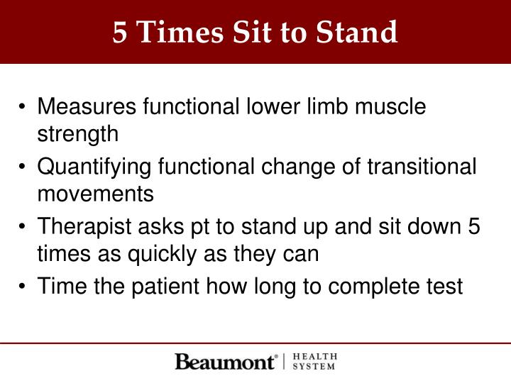 5 Times Sit to Stand