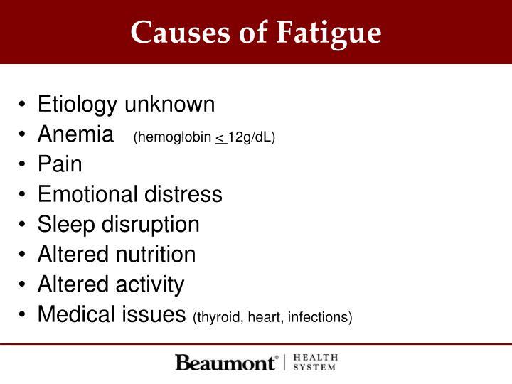 Causes of Fatigue