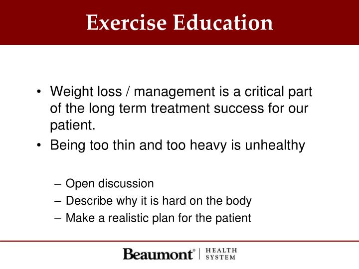 Exercise Education