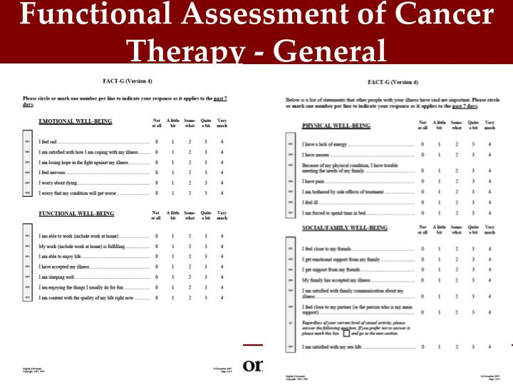 Functional Assessment of Cancer Therapy - General