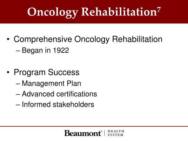Oncology Rehabilitation