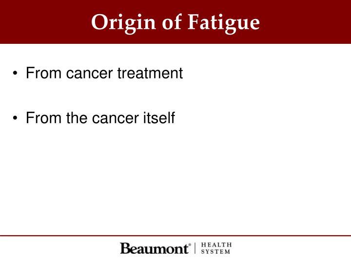Origin of Fatigue