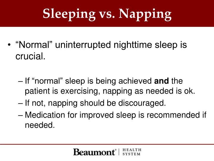 Sleeping vs. Napping