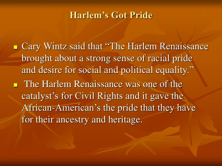 harlem renaissance poem analysis paper essay 2011 the harlem renaissance the final draft of the harlem renaissance history research paper most affecting touches in poetry —among the.