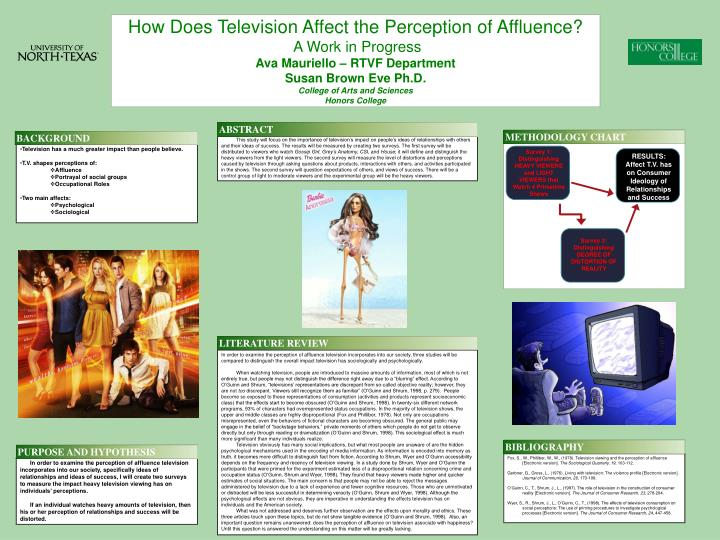 How Does Television Affect the Perception of Affluence?