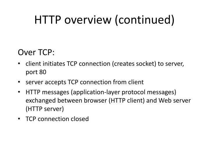 Over TCP: