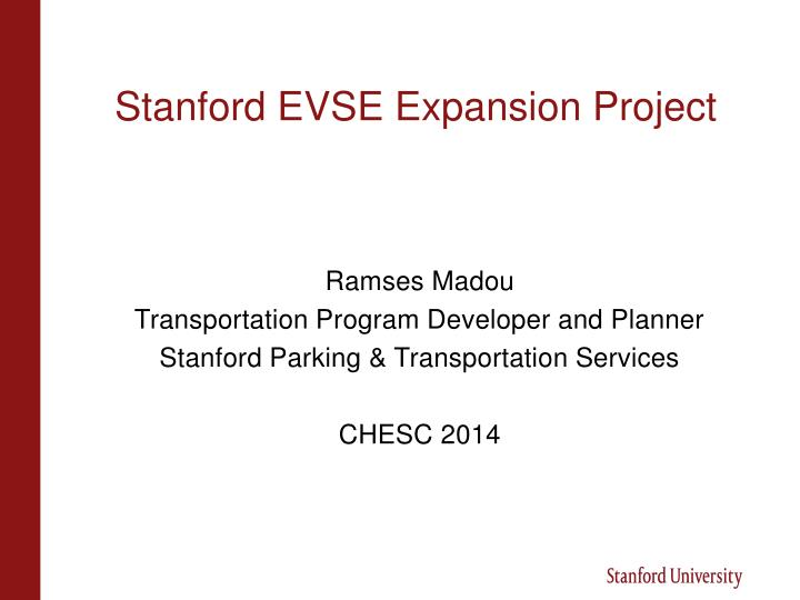 Stanford evse expansion project