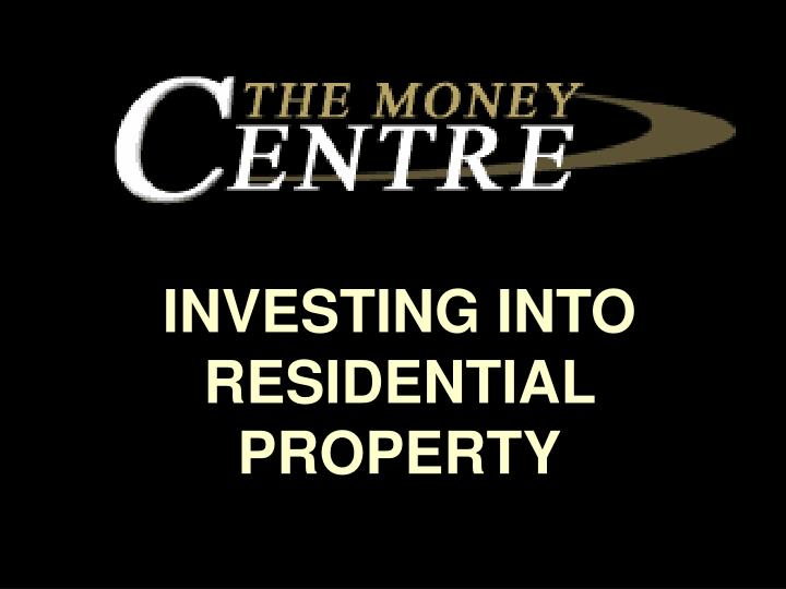 investing into residential property