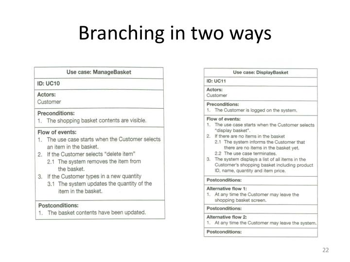 Branching in two ways