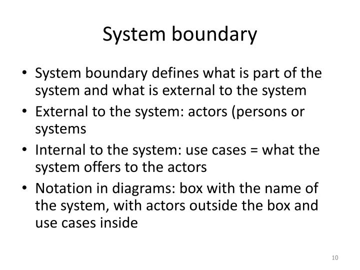 System boundary