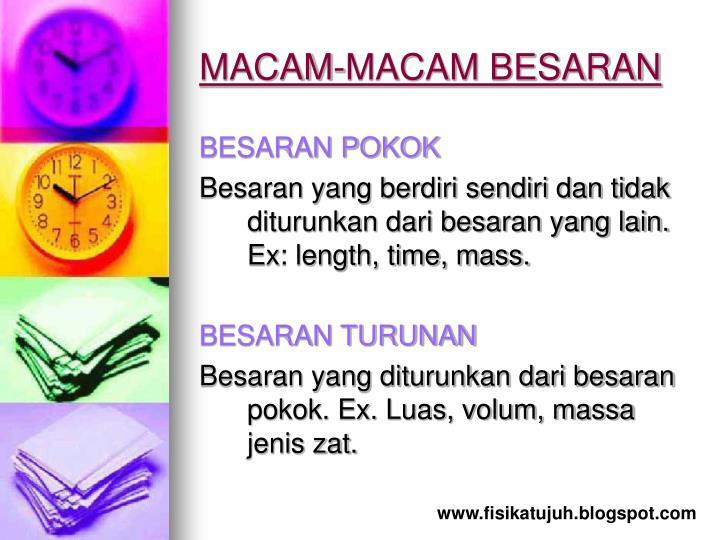MACAM-MACAM BESARAN