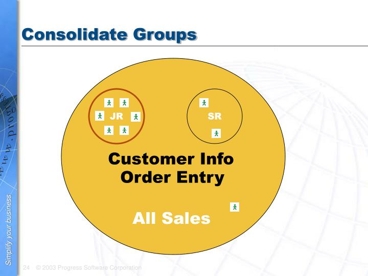 Consolidate Groups