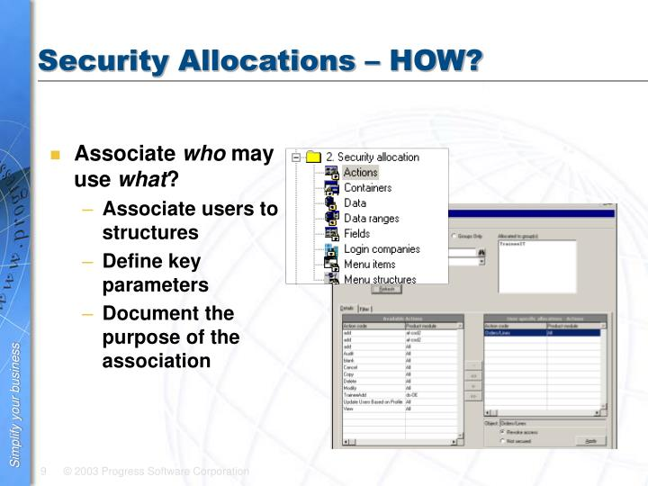 Security Allocations – HOW?