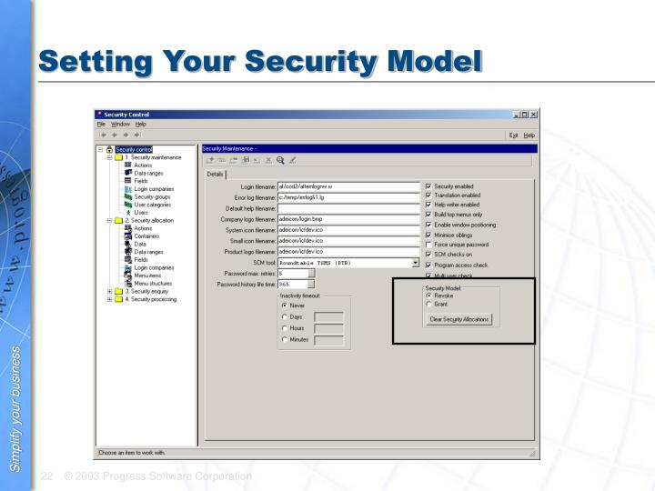 Setting Your Security Model