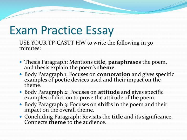 Exam Practice Essay