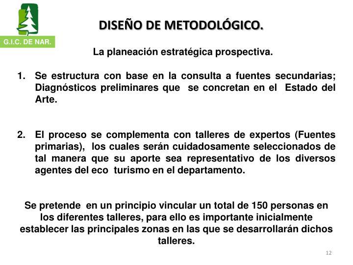 DISEÑO DE METODOLÓGICO.