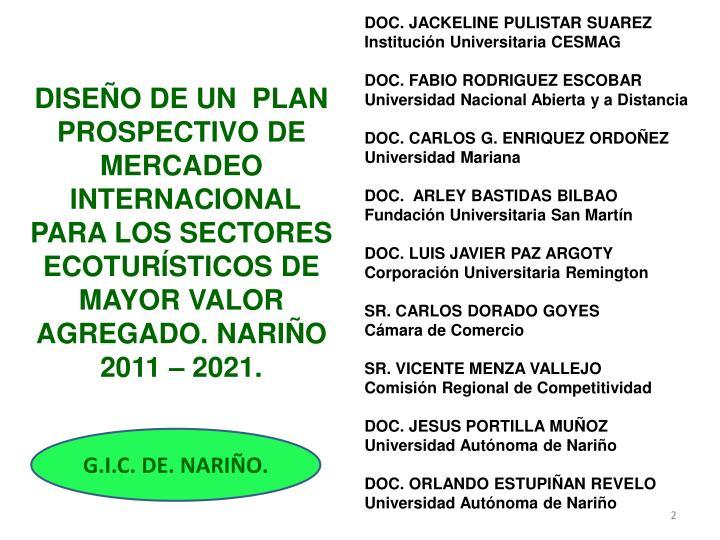 DOC. JACKELINE PULISTAR SUAREZ Institución Universitaria CESMAG