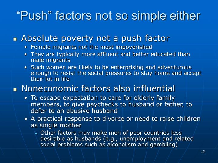 """Push"" factors not so simple either"